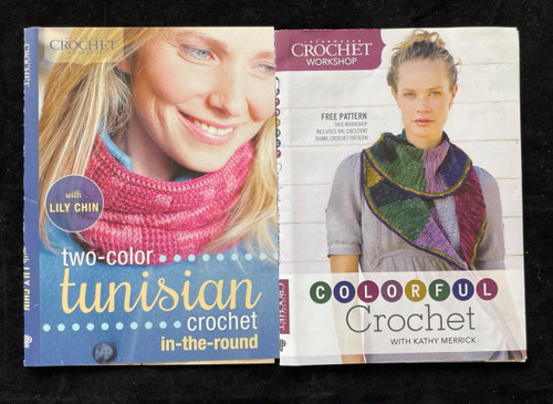 DVDs Only! Crochet Bundle - Tunisian & Colorful-Lily Chin & Kathy Merrick