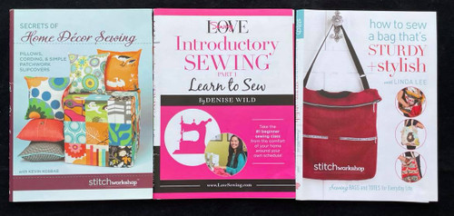 DVDs Only! Sewing Bundle - LoveSewing, Home Decor Sewing & How to Sew a Bag