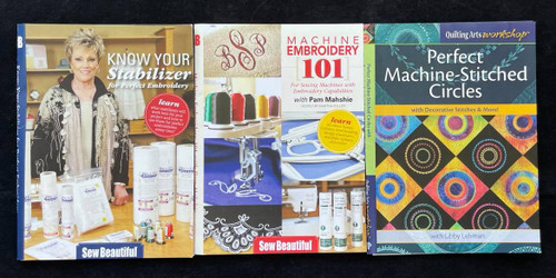 DVDs Only! Machine Sewing Bundle - Know Your Stabilizer, Machine Embroidery 101, Perfect Machine-Stitched Circles