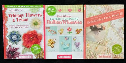 DVDs Only! Sew Beautiful Bundle Kari Mecca's Whimsy Flowers & Trims