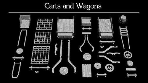 Cart's and Wagon's Unpainted