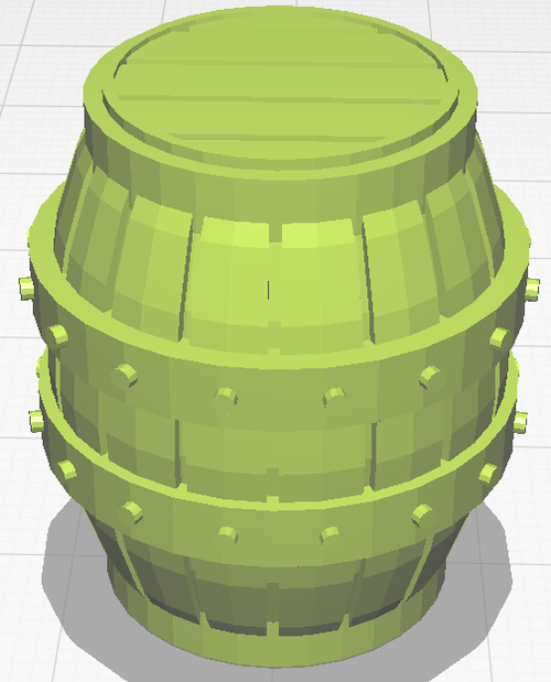 Large Barrel - Unpainted