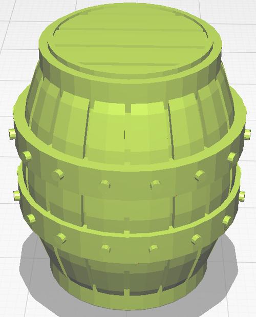 Large Barrel - Unpainted
