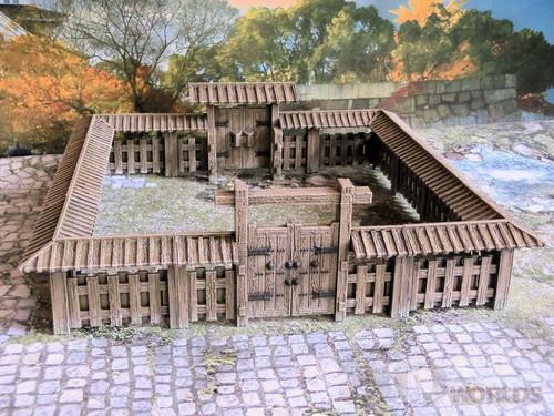 Samurai Wooden Walls Set Small