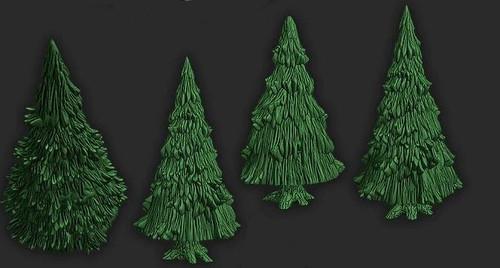 5Pcs  Pine Tree