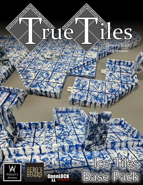 Dungeon Tiles - 60 Pcs TrueTiles Ice Tiles Beginner Kit