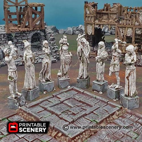 Shadowfey - Guardian Statue Set