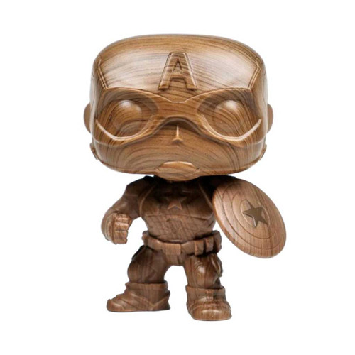 Marvel Captain America Wood Deco Exclusive Pop! Vinyl Figure #584
