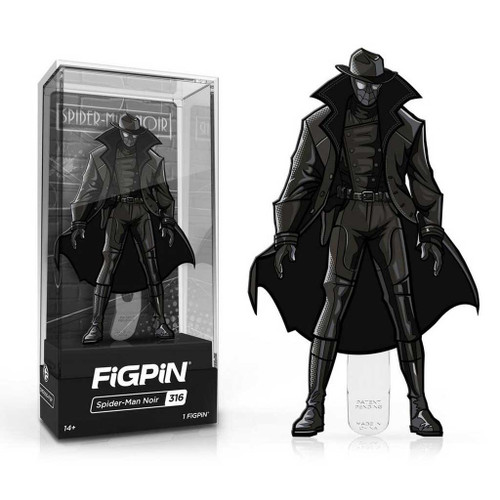 Spider-Man Noir FiGPiN Enamel Pin is #316 in the collection.