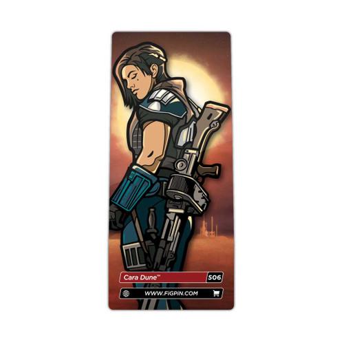 Star Wars The Mandalorian Cara Dune FiGPiN Enamel Pin #506 3 inch collector