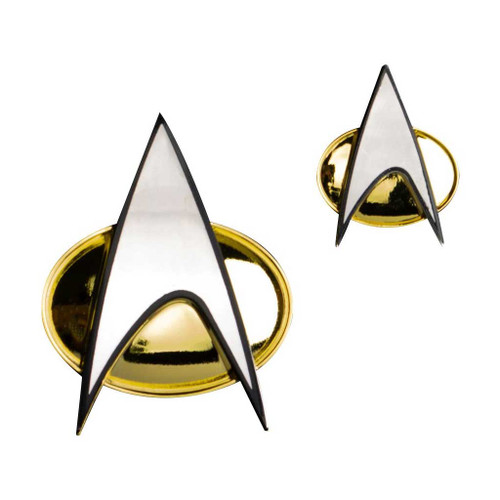 Star Trek Next Generation Communicator Badge and Pin Set Metal