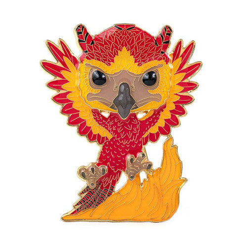 Harry Potter Fawkes Large Enamel Pop! Pin #06