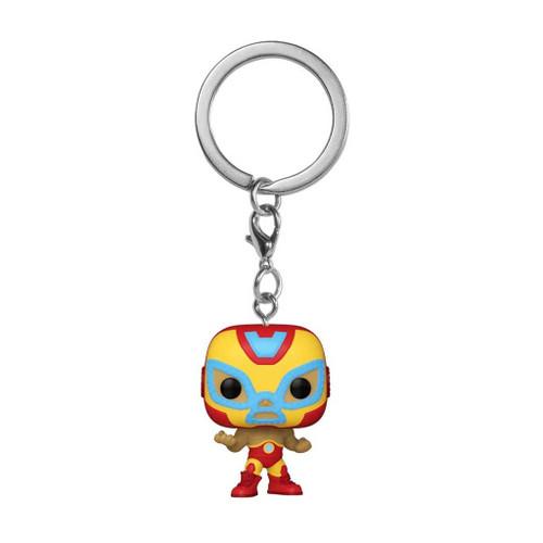 Marvel Luchadores El Heroe Iron Man Pocket Pop! Keychain