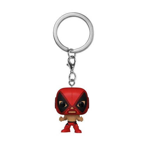 Marvel Luchadores El Chimichanga De La Muerte Deadpool Pocket Pop! Keychain
