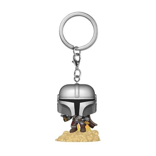 Star Wars The Mandalorian with Blaster Pocket Pop! Keychain