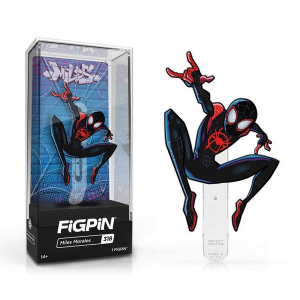 Miles Morales FiGPiN Enamel Pin is #318 in the collection.