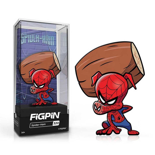 Spider-Ham FiGPiN Enamel Pin is #320 in the collection.