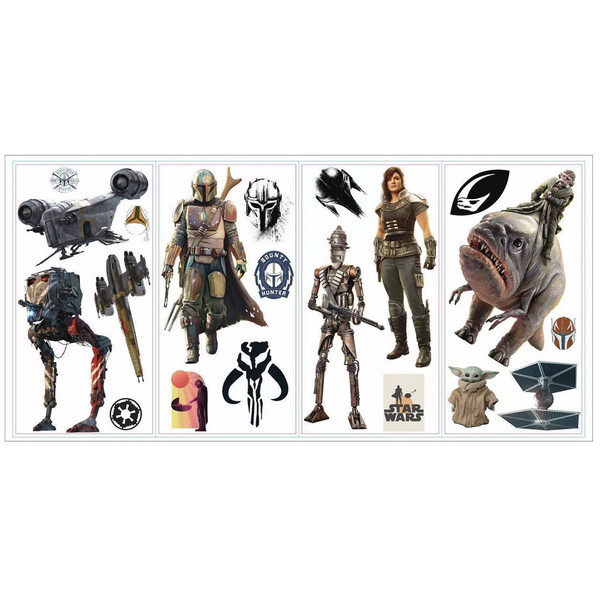 Star Wars The Mandalorian Peel and Stick Wall Decals