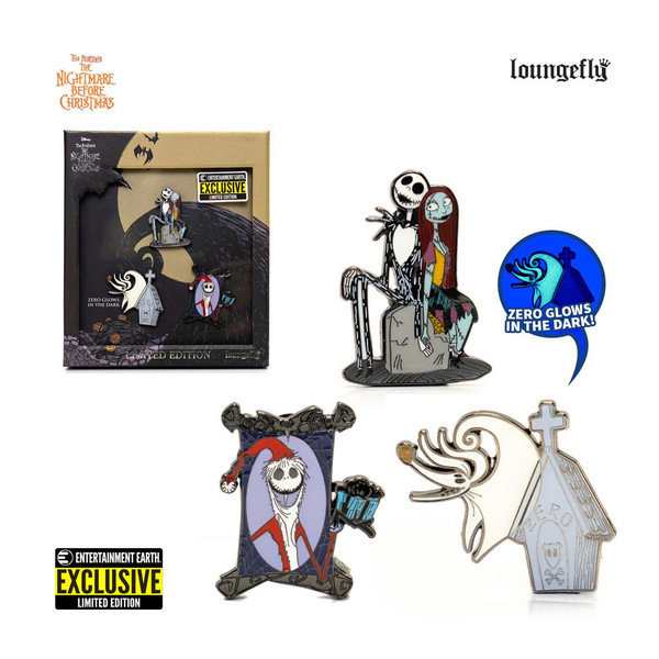 Nightmare Before Christmas Limited Edition 3-Piece Enamel Pin Set