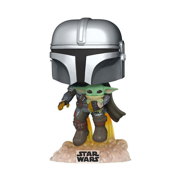 Star Wars The Mandalorian Flying with The Child Pop! Vinyl Figure #402