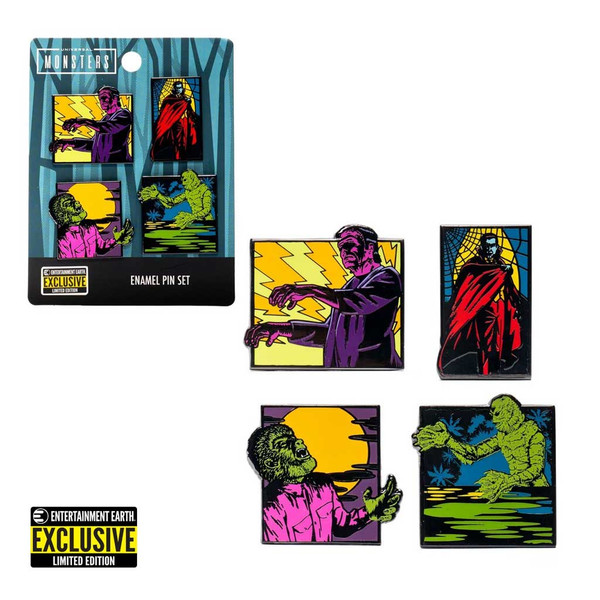 Universal Monsters Limited Edition 4-Piece Enamel Pin Set