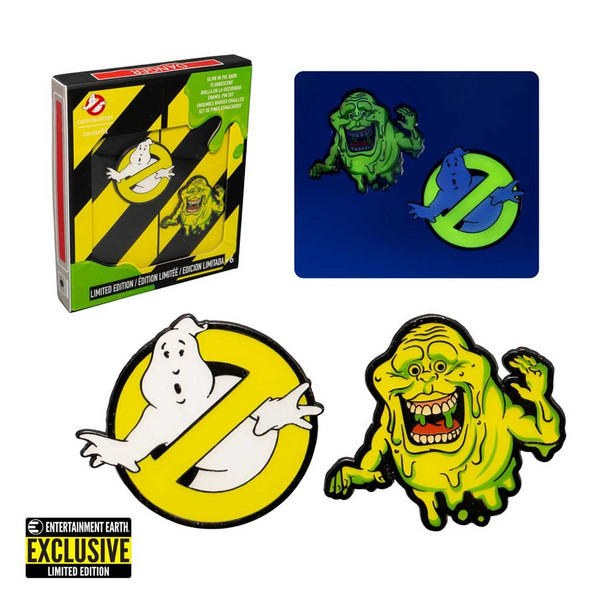 Ghostbusters Glow-in-the-Dark Pin Set of 2 Limited EditionEnamel Pin Set