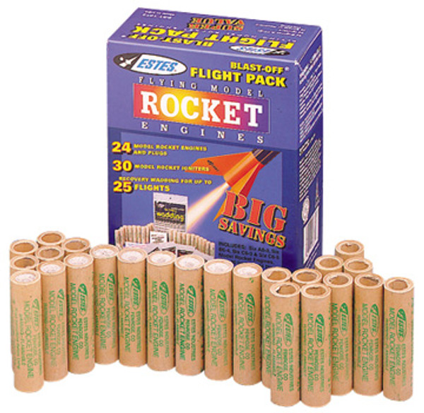 C6-5 (24 Engines+wadding) Flying Model Rocket Bulk Engines Pack - Estes 1789
