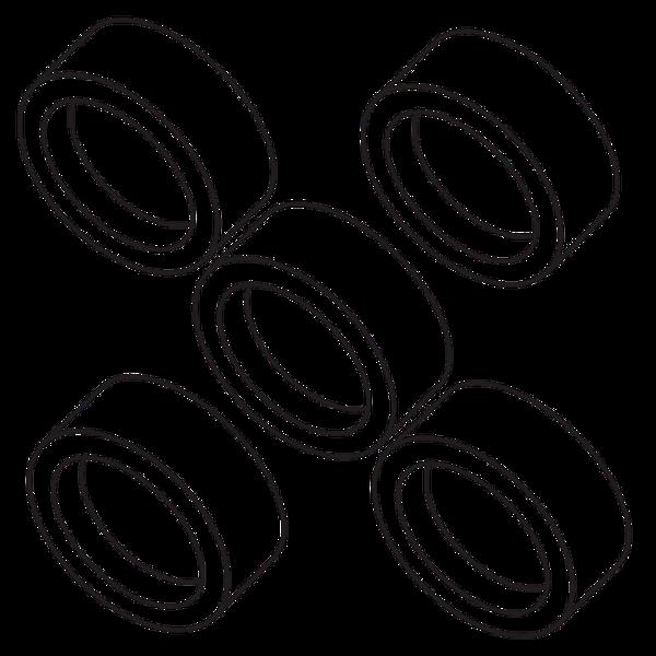 EB-5 Engine Blocks (5 rings) - Custom 23055