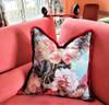 Jean Paul Gaultier Botanique Decorative Throw Pillow with Moss Fringe