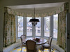 Curtains and Valance, fabric by Thibaut | Custom window treatments in Stamford, CT, by Thundersley Interiors