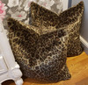 Leopard Throw Pillow, Faux Fur