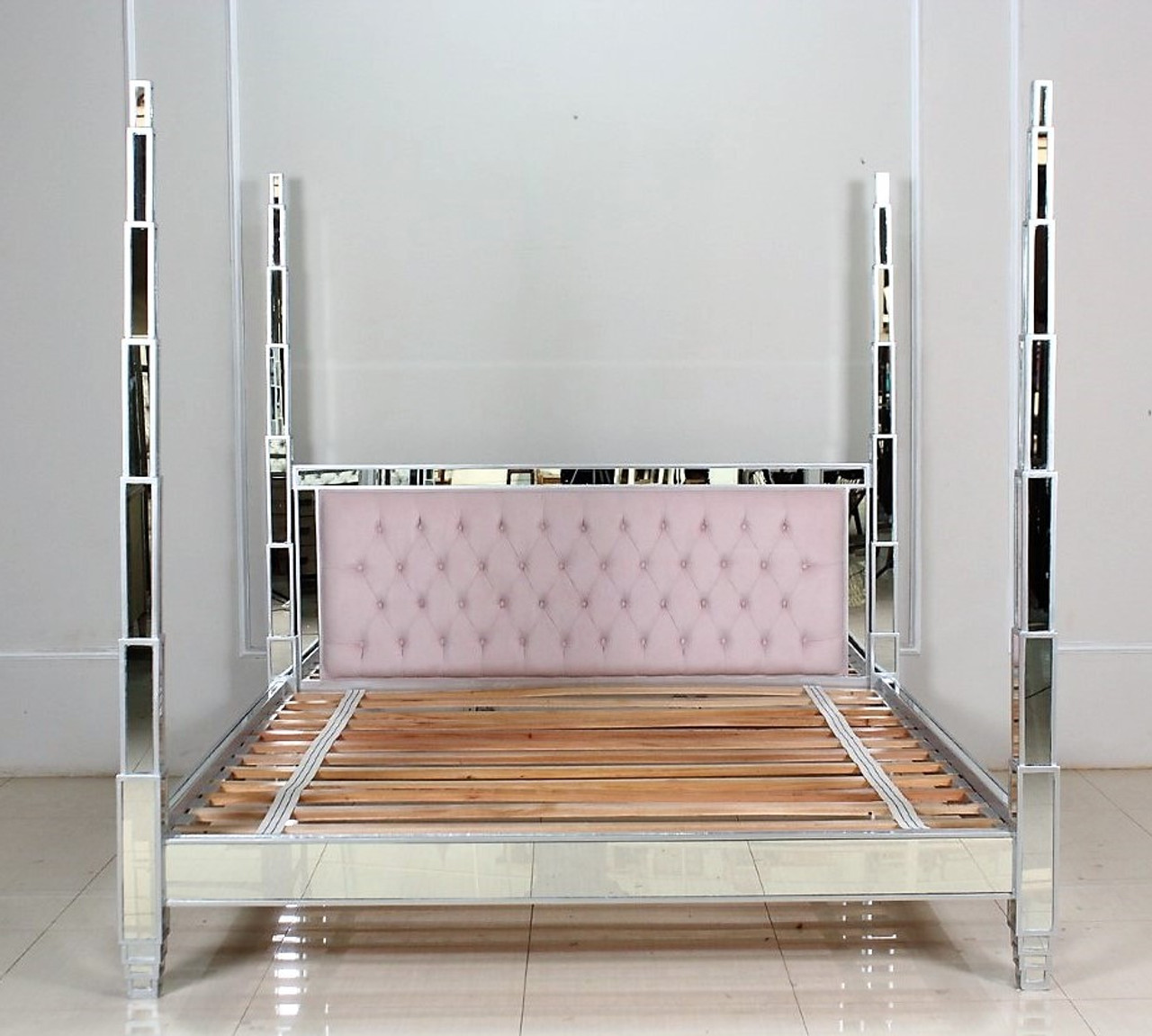 Mirrored Tufted Bed
