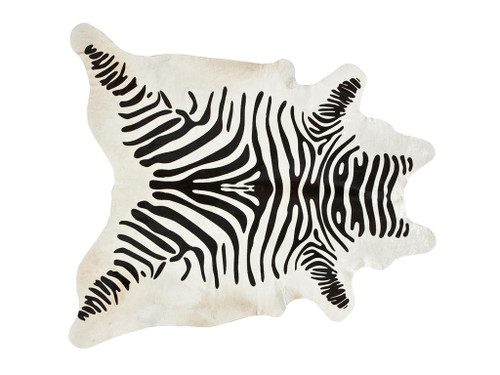 DILLON ZEBRA COWHIDE, Black & Off White