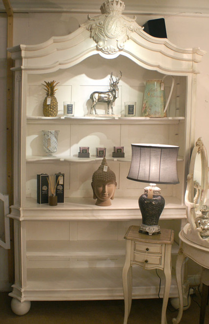 French Chateau White Bookcase