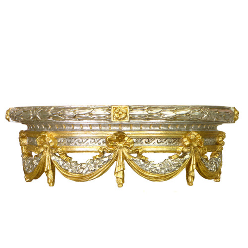 Bed Crown Silver And Gold Gilding