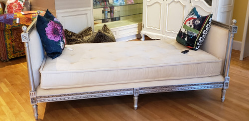 Versailles Daybed, Antique Silver