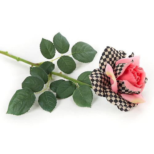 Pink Rose with check