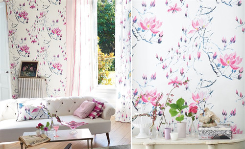 Designers Guild MADAME BUTTERFLY - PEONY