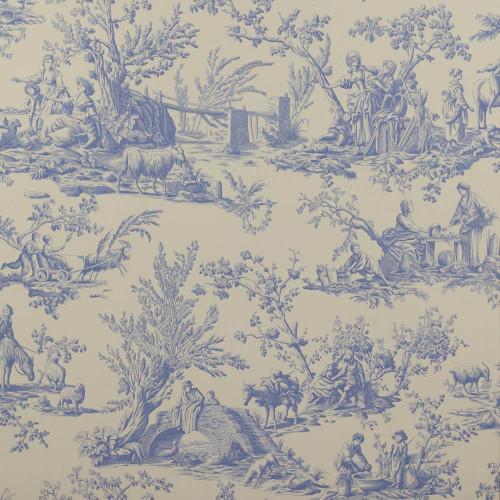 Bellegarde Wallpaper Bleu