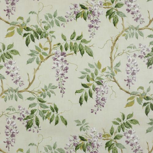 Alderney Linen: Lilac, Green FABRIC