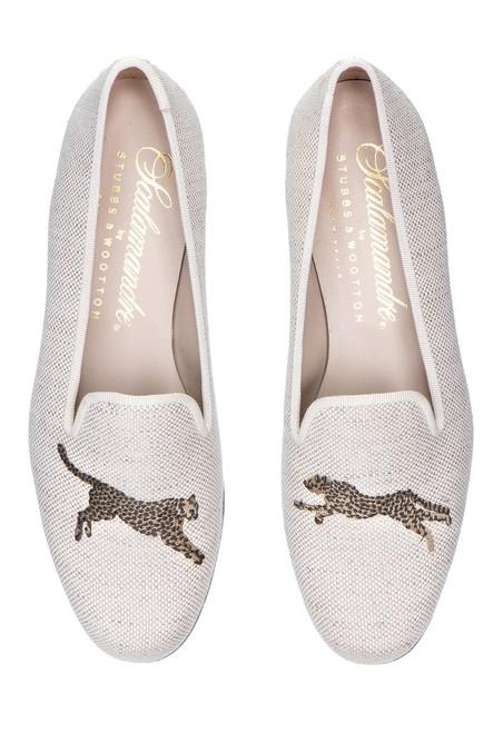 Scalamandre Leaping Cheetah Silpper Linen For Women
