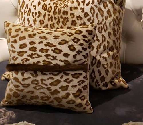 SAFARI EPINGLE CHAMOIS DECORATIVE THROW PILLOW