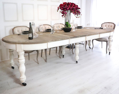 Farmhouse Oval Table, French Style