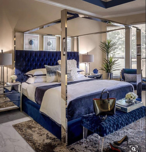 Tufted Canopy Bed