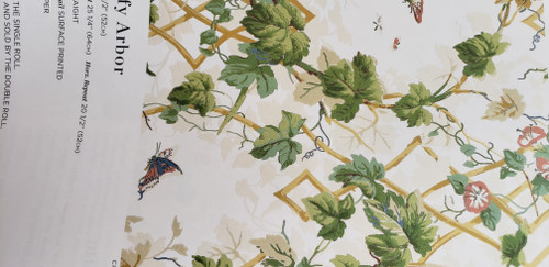 SCHUMACHER  LEAFY ARBOR WALLPAPER BY THE ROLL