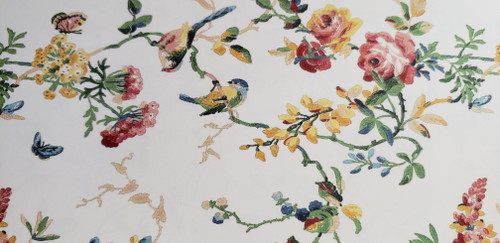 SCHUMACHER  CHICADEE FLORAL WALLPAPER BY THE ROLL