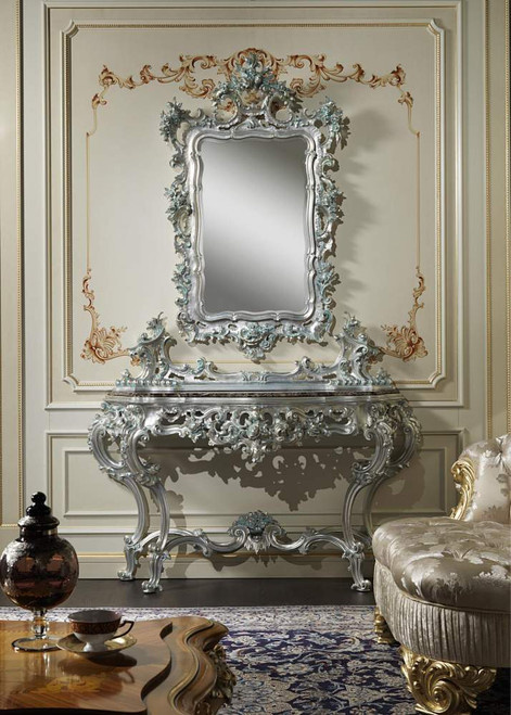 Baroque luxury Console Table & Mirror