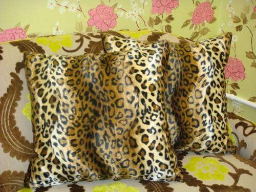Animal Print Throw Pillow Cover, Cheetah Print, Brown & Gold