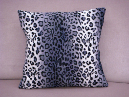 Animal Print Throw Pillow, Cheetah Print, Mauve & White