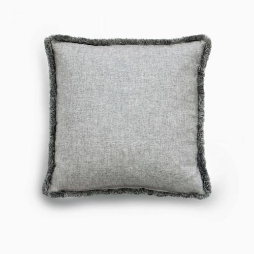 Cushion Type:Cashmere, Grey with moss fringe  $713.00